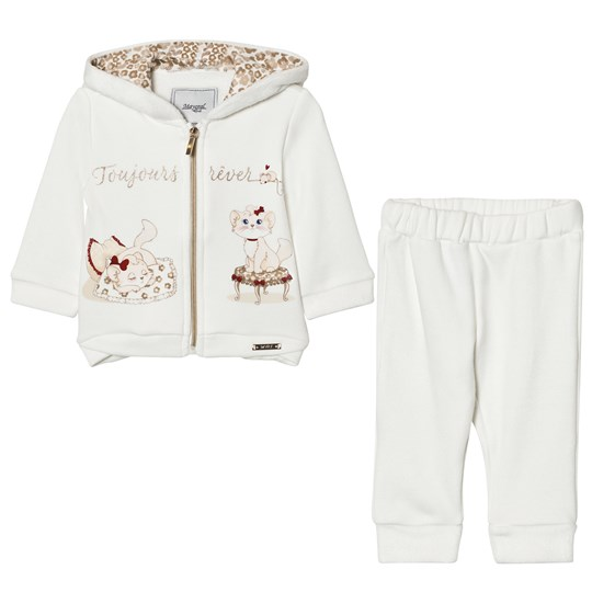 Mayoral Off-white Cat Embroidered Tracksuit 83