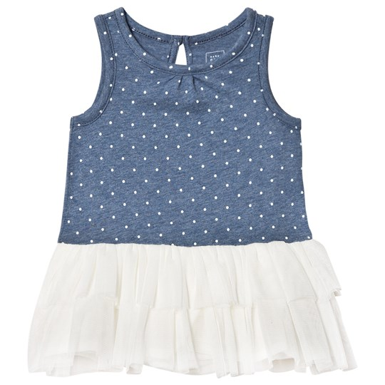 GAP Polka Dot Tutu Dress Blue Heather BLUE HEATHER