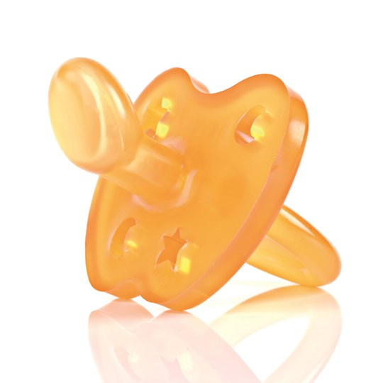 Hevea Hevea Pacifier Star & Moon LARGE 3-36 Months Natural Rubber
