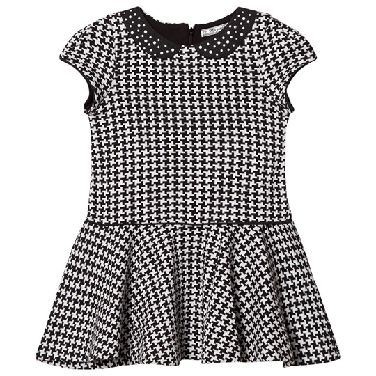 Mayoral Grey and Black Houndstooth Dress 80