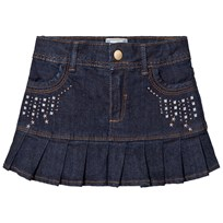 Mayoral Dark Wash Denim Skirt with Rivets 16