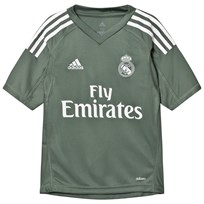 Real Madrid Real Madrid ´17 Junior Home Goal Keeper Shirt TRACE GREEN S17/WHITE
