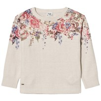 Mayoral Beige Floral and Diamante Knit Jumper 37