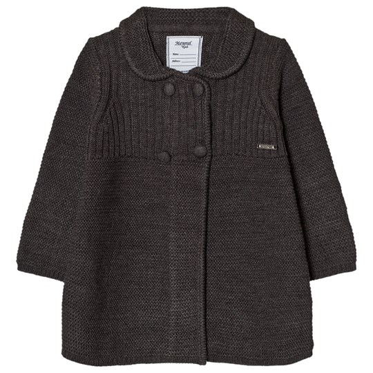 Mayoral Charcoal Grey Knitted Coat 62