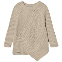 Mayoral Beige Cable Knit Asysmetric Cable Jumper 29