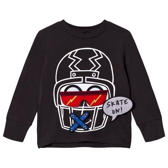 Stella McCartney Kids Black Funny Face Helmet Tee 1074 - Washed Black