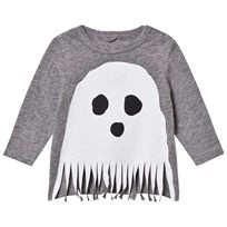 Stella McCartney Kids Grey Ghost Fringe Georgie Tee 1464