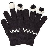 Stella McCartney Kids Black Eye Gloves 1073