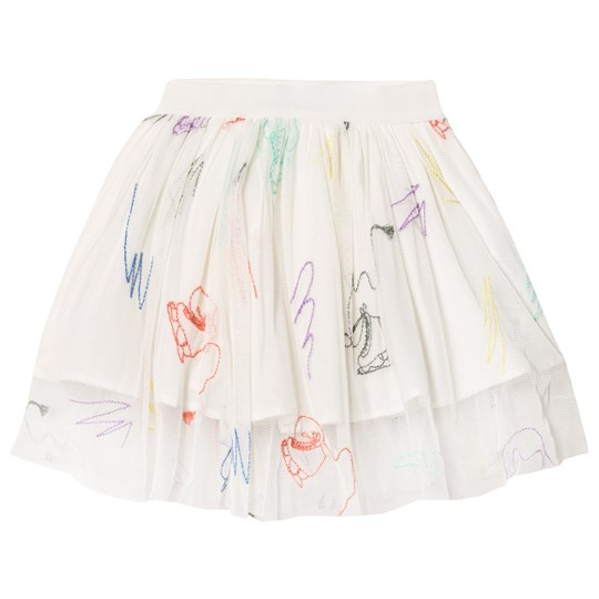 Stella McCartney Kids White Embroidered Skates Darci Tulle Skirt 9232