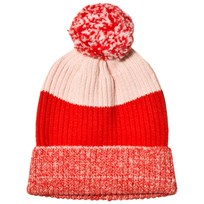 Stella McCartney Kids Red Tweddle Pom Pom Hat 6564
