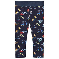 Stella McCartney Kids Scribble and Skate Print Tula Leggings Marinblå 4098