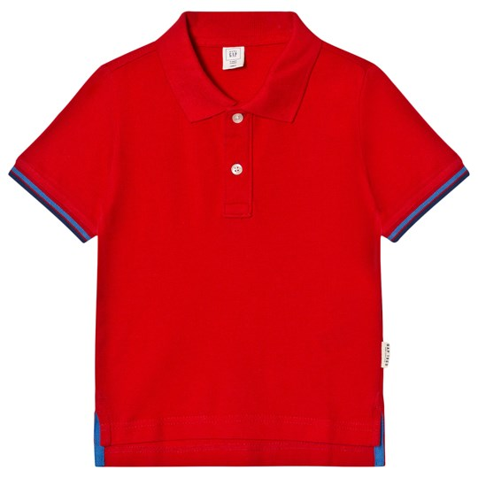 GAP Stripe-Sleeve Pique Polo Pure Red PURE RED V2