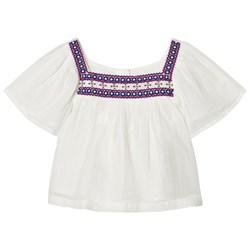 GAP Embroidery Boho Top New Off White