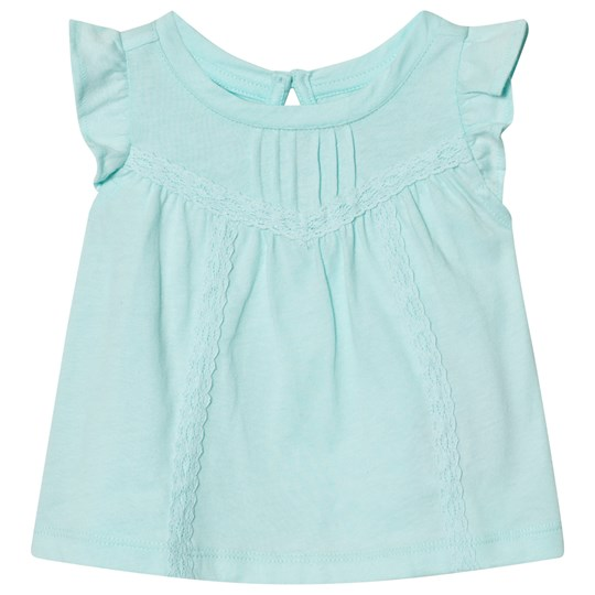 GAP Lace Trim Flutter Top Ballerina Blue BALLERINA BLUE