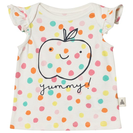 GAP Organic Apple and Dot Flutter Tee Milk Multi Dots