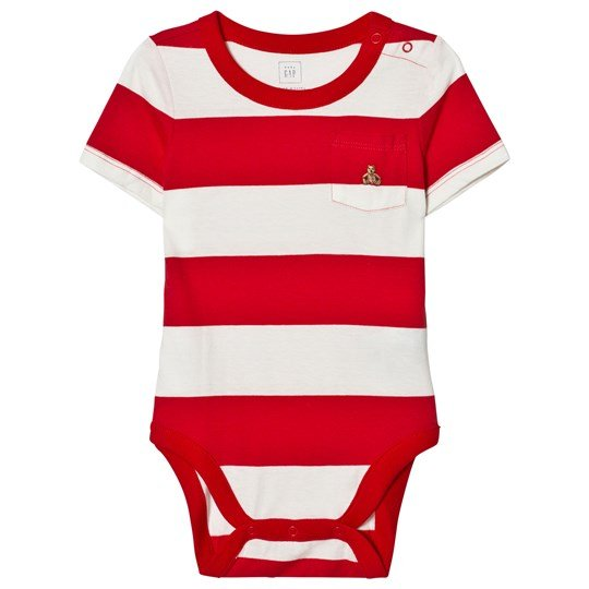 GAP Stripe Short Sleeve Pocket Body Pure Red PURE RED V2