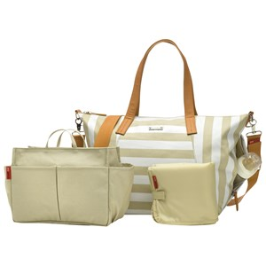 Image of Storksak Noa Changing Bag Stripe Fawn 1010 (2743774181)