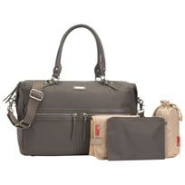 Storksak Caroline Changing Bag Grey Nylon Grey