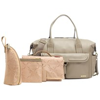 Storksak Charlotte Leather Changing Bag Clay Clay