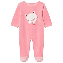 Absorba Bright Pink Cat Footed Baby Body