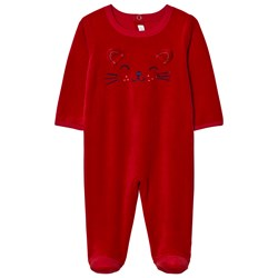 Absorba Red Cat Face Footed Baby Body