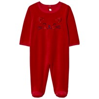 Absorba Red Cat Face Footed Baby Body 03