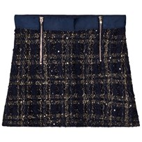 Mayoral Navy Tweed Zip Skirt 20