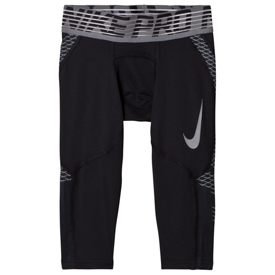 NIKE Black Hypercool Junior Tights BLACK/COOL GREY