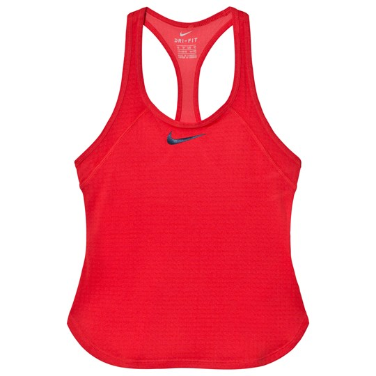 NIKE Girls Pink Nike Dry Slam Tank Top ACTION RED/MIDNIGHT NAVY