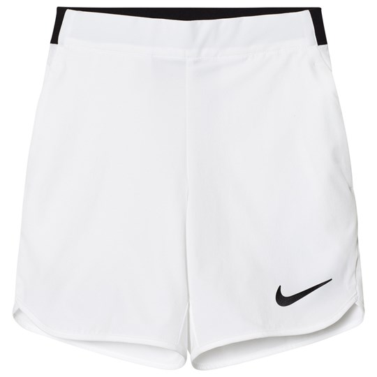 NIKE White Flex Ace Tennis Shorts White/Black