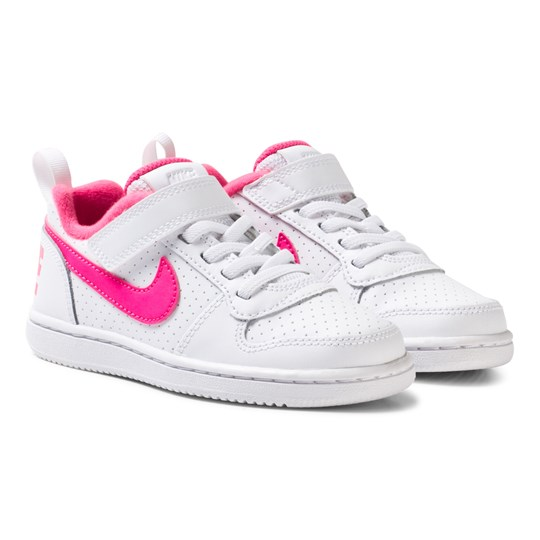 official photos b5569 58be1 NIKE Nike Court Borough Low Kids Skor Vit WHITE PINK BLAST