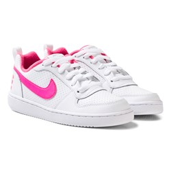 NIKE White Nike Court Borough Low Junior Shoe