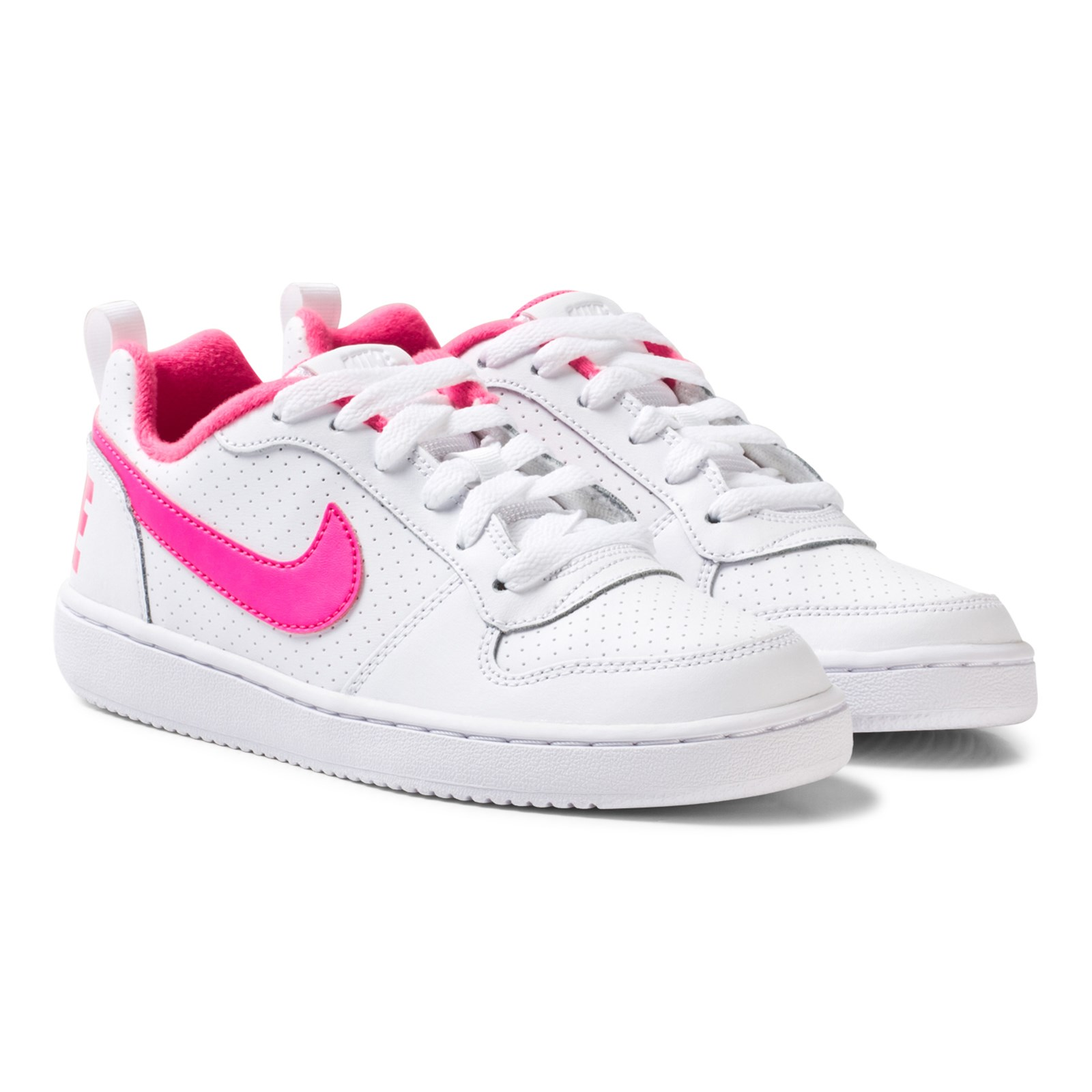 Concesión Grave espíritu  NIKE - White Nike Court Borough Low Junior Shoe - Babyshop.com