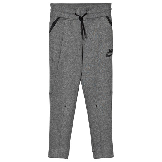 NIKE Girl Grey Tech Fleece Pants CARBON HEATHER/CARBON HEATHER/BLACK