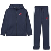 NIKE Nike Air Fleece Cuffed Tracksuit Thunder Blue THUNDER BLUE/UNIVERSITY RED