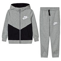 NIKE Fleece Core Tracksuit Dark Gray Heather DK GREY HEATHER/BLACK/WHITE