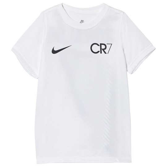 NIKE Boys White CR7 Nike Lines T-Shirt White/Black