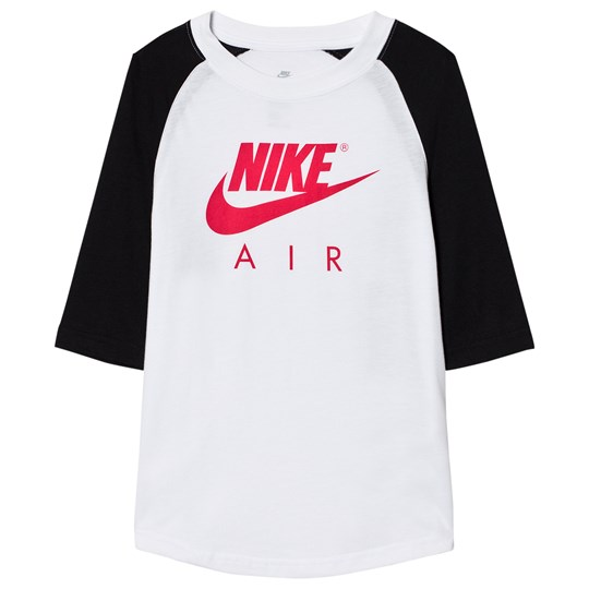 NIKE Nike Air 3/4 Tee White WHITE/BLACK/SIREN RED