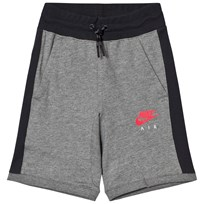 NIKE Nike Air Fleece Shorts Grå CARBON HEATHER/ANTHRACITE/SIREN RED