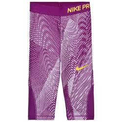 NIKE Girls Purple Nike AOP Capri Leggings