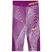 NIKE Purple Capri Leggings VIOLET MIST/BOLD BERRY/LASER ORANGE