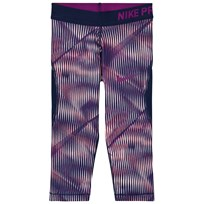NIKE Purple Hypercool Capri Leggings SUNSET TINT/BINARY BLUE/BOLD BERRY