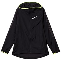 NIKE Black Light Running Jacket BLACK/BLACK/VOLT