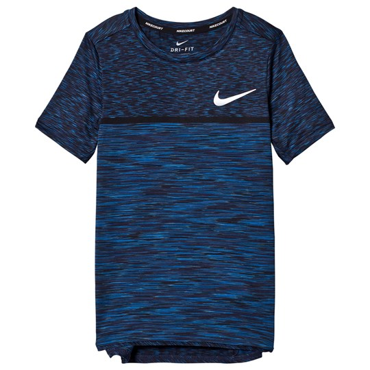 NIKE Blue Dry Challenger Tennis Tee BLUE JAY/WHITE