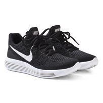 NIKE Black LunarEpic Flyknit 2 Junior Running Shoe BLACK/WHITE-ANTHRACITE