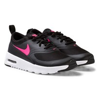 NIKE Black Air Max Thea Kids Shoe BLACK/RACER PINK-HYPER PINK
