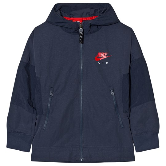 NIKE Nike Air Hooded Jacket Navy THUNDER BLUE/UNIVERSITY RED