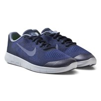 NIKE Free RN 2 Junior Shoe Binary Blue BINARY BLUE/DARK SKY BLUE-OBSIDIAN