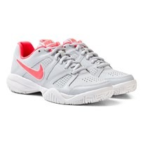 NIKE City Court 7 Junior Tennis Shoe White PURE PLATINUM/HOT PUNCH-WHITE