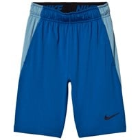 NIKE Dry Fly Junior Shorts Blå BLUE JAY/CERULEAN/BLACK